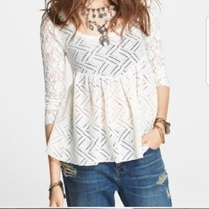 Gracie lace babydoll top Free People S